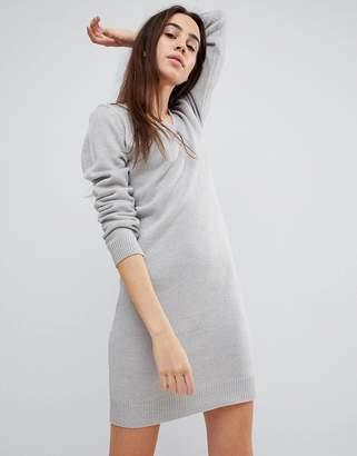 Brave Soul Sweater Dress with V Neck