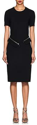 Altuzarra Women's Asymmetric-Peplum Stretch-Cady Dress - Black