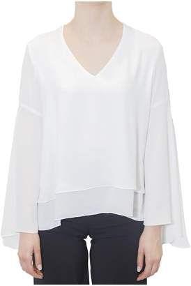 Hanita V-neck Collar Blouse