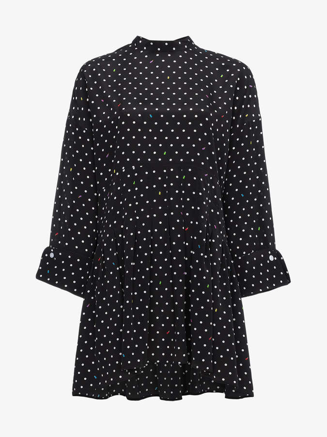 Sandy Liang polka dot dress with rear tie