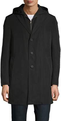 Saks Fifth Avenue Trim-Fit Hooded Raincoat