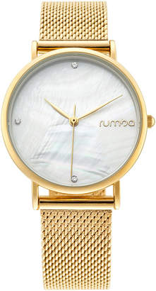 RumbaTime Lafayette Gold Mesh Women's Watch