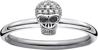 Thomas Sabo Diamond pav skull ring band