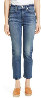 Rag & Bone High Waist Ankle Cigarette Jeans
