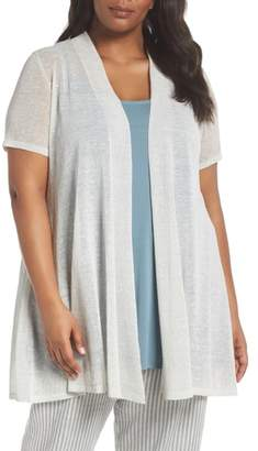 Eileen Fisher Long Organic Linen Blend Cardigan