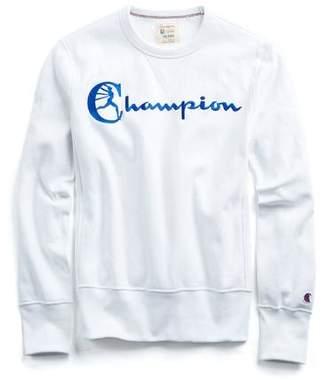 Todd Snyder + Champion Reverse Weave Champion Graphic Sweatshirt in White