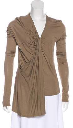 Givenchy V-Neck Long Sleeve Top