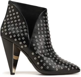 Michael Kors Eyelet-embellished Leather Ankle Boots