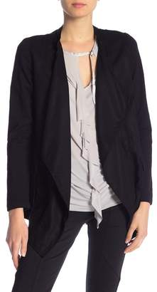 XCVI Long Sleeve Drape Front Cardigan