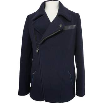 Nicole Farhi Navy Wool Coat for Women