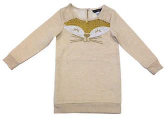 PREVIEW Long-Sleeve Fox Motif Fleece Dress