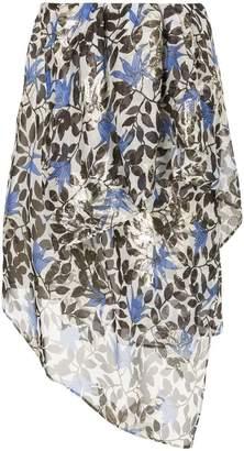 Christian Wijnants floral asymmetric skirt