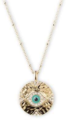 lonna & lilly Goldtone Evil Eye Pendant Necklace