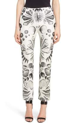 Alexander McQueen Shell Print Wool & Silk Pants