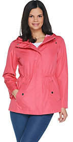 Susan Graver Zip Front Anorak Jacket withStriped Lining