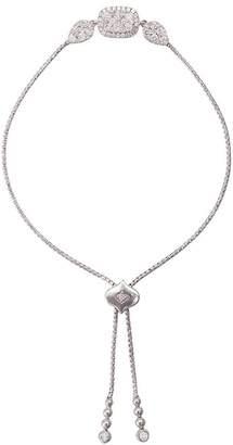 Sara Weinstock Reverie Cushion Pear White Diamond Cluster White Gold Bolo Bracelet