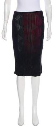 Marco De Vincenzo Knee-Length Velvet Skirt