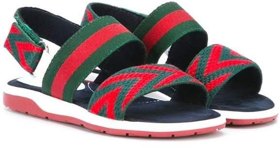 Gucci Kids striped sandals
