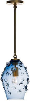 Juliska Florence Smoke Blue Diamond Brass Pendant