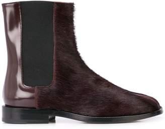 Maison Margiela textured Tabi chelsea boots