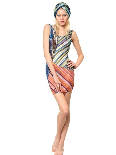 Missoni Patchwork Knitted Viscose Dress