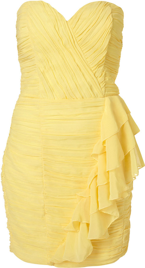 Ruffle Bandeau Dress by Rare**