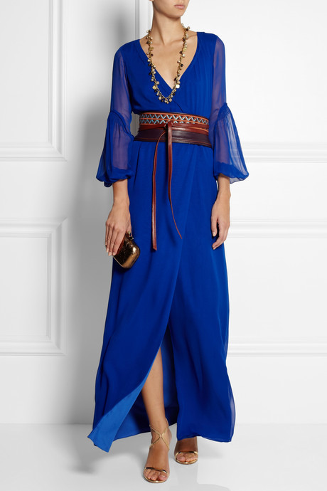 Diane von Furstenberg Catroux silk-chiffon wrap maxi dress