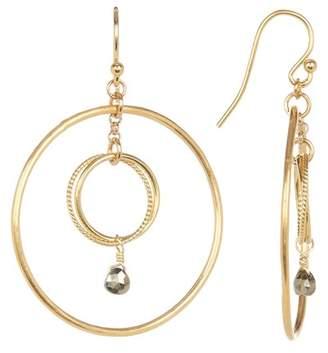 Chan Luu Double Hoop Crystal Earrings