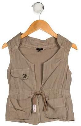 Ikks Girls' Linen Vest