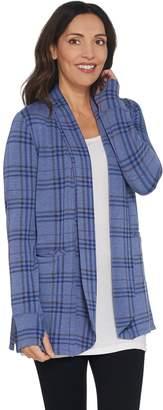Cuddl Duds Comfortwear Shawl Collar Cardi Wrap with Pockets