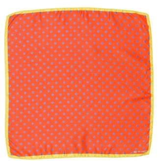 Etro Printed Square Scarf Orange Printed Square Scarf