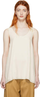 Chloé White Crepe de Chine Tank Top