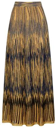 M Missoni Gold Metallic-knit Maxi Skirt