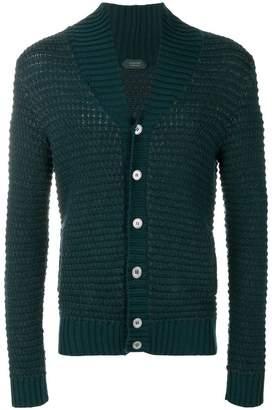 Zanone shawl collar knit cardigan