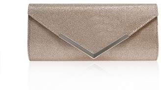 Carvela Silver 'Daphne' Envelope Clutch Bag
