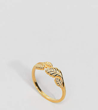 Asos Gold Plated Sterling Silver Wrapped Leaf Ring