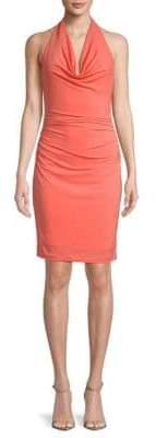 Nicole Miller Ruched Halterneck Dress