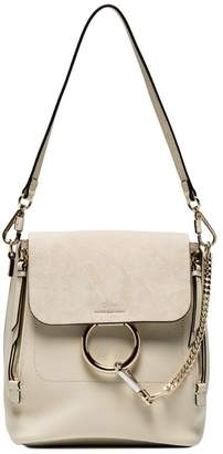 Chloé Off White Faye Medium Leather backpack
