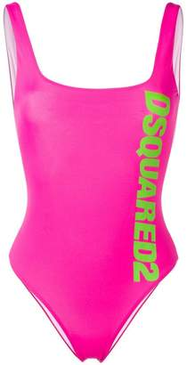 DSQUARED2 printed logo one-piece