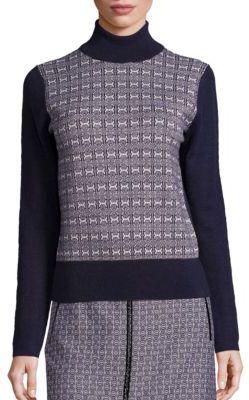 Tory BurchTory Burch Sabino Jacquard Turtleneck Sweater