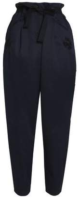 Markus Lupfer Sia Belted Embroidered Cotton-Twill Tapered Pants