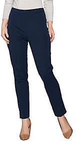 Susan Graver Coastal Stretch Pull-On Slim LegPants w/ Slits