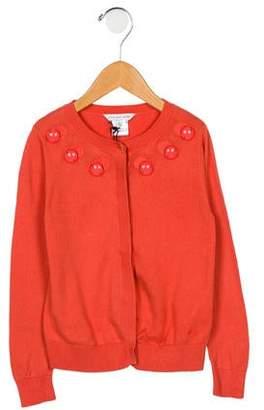 Little Marc Jacobs Girls' Embellished Knit Cardigan
