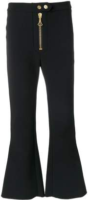 Ellery zipped cropped flared trousers