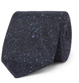 Drakes Drake's 8cm Textured Silk And Cotton-blend Tie