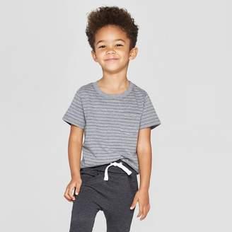 Cat & Jack Toddler Boys' Short Sleeve Texture Pocket T-Shirt Gray