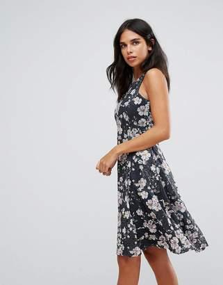 Yumi Ditsy Print Floral sKATER Dress