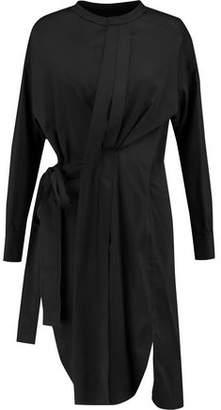 Isabel Marant Pleated Silk-Blend Wrap Dress