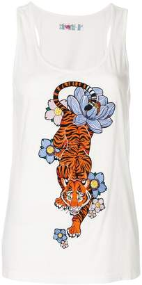 Ash embroidered tank top