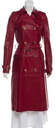MICHAEL Michael Kors Long Leather Coat